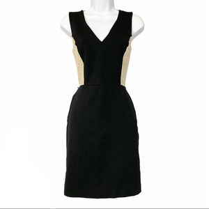 DKNY Black and Tan lace panel sheath dress 6